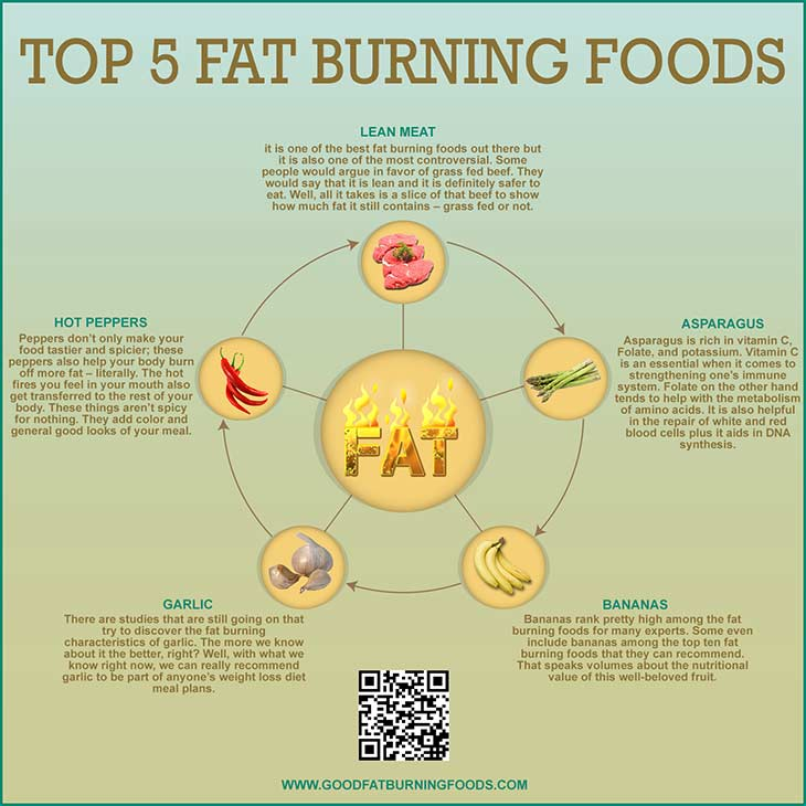Top 5 Fat Burning Foods